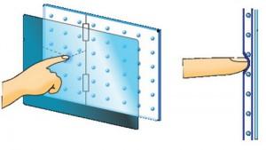 Принцип построения 5-проводного резистивного сенсорного экрана
