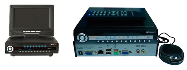 две модели видеорегистратора новикам ф2+ и ф3